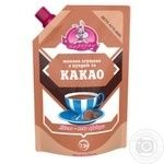 Condensed milk Zarechye with cocoa with sugar 7.5% 270g doypack