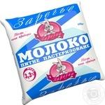 Молоко Заречье питьевое пастеризованное 3,3% 450г