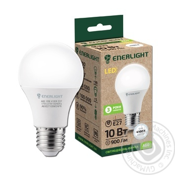 Enerlight LED lamp A60 10W 4100K E27