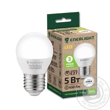 Лампа светодиодная Enerlight G45 5Вт 4100K E27 - купить, цены на Novus - фото 1
