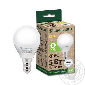 Лампа светодиодная Enerlight P45 5Вт 4100K E14