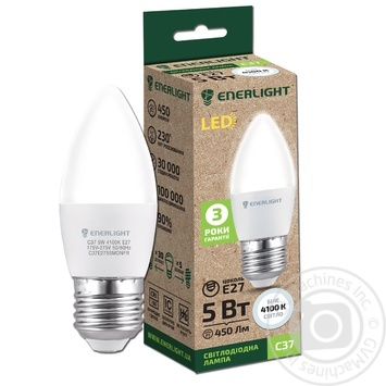 Лампа светодиодная Enerlight С37 5Вт 4100K E27
