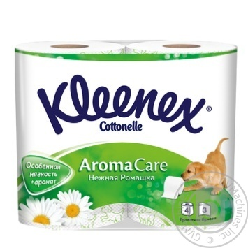 Туалетная бумага Kleenex Aroma Care ароматизированная Нежная Ромашка 4шт
