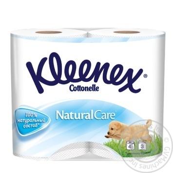 Туалетний папір Kleenex Natural Care ароматизований 4шт - купити, ціни на Novus - фото 1