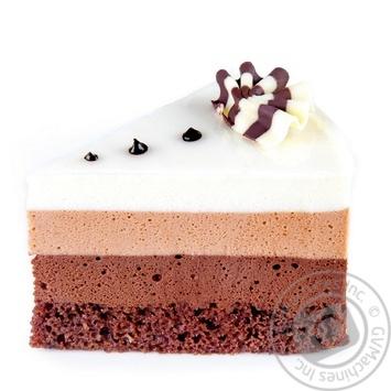Пирожное Три шоколада - купить, цены на Novus - фото 1