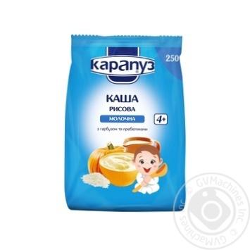 Каша детская Карапуз рисовая молочная с тыквой сухая быстрорастворимая с 4 месяцев 250г - купить, цены на Ашан - фото 1