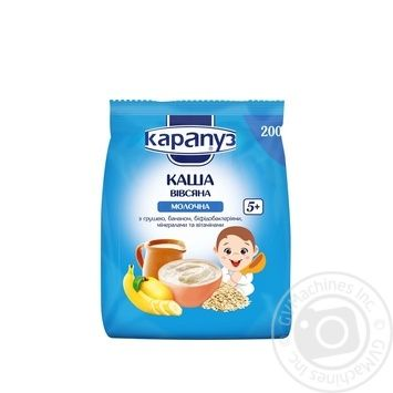 Karapuz for children with pear and banana milk oatmeal 200g - buy, prices for MegaMarket - image 1