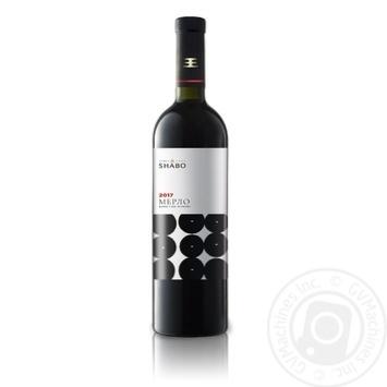 Вино Shabo Класик Мерло червоне сухе 0,75л