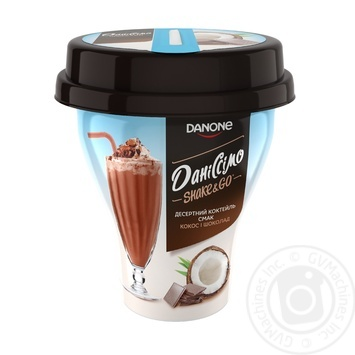 Йогуртный коктейль Даниссимо Shake&Go Кокос-Шоколад 5,2% 260г
