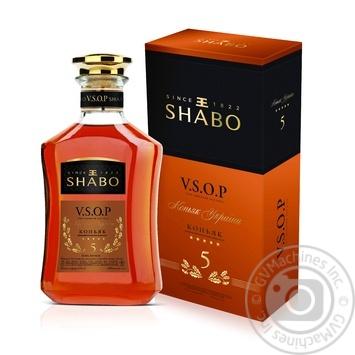 Коньяк Shabo 5 зірок V.S.O.P. 40% 0,5л - купити, ціни на Novus - фото 1