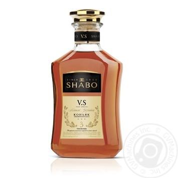 Коньяк Shabo 3 звезды V.S. 40% 0,375л - купить, цены на СитиМаркет - фото 1