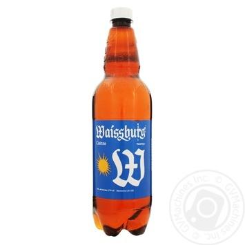 Пиво Уманьпиво Waissburg светлое 4.7% 1л - купить, цены на Фуршет - фото 1