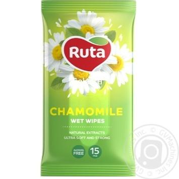 Серветки вологі Ruta Selecta Chamomile 15. шт з екстрактом ромашки