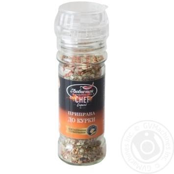 Приправа з морською сіллю до курки млинок Любисток 60 г - купить, цены на Novus - фото 1