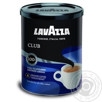 Natural ground roasted coffee Lavazza Club 100% Arabica 250g Italy - buy, prices for MegaMarket - image 1