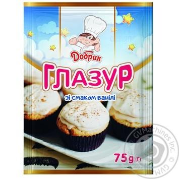 Глазур Добрик зі смаком ванілі 75г - купити, ціни на Ашан - фото 1