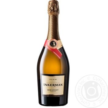 Вино игристое Inkerman Мускат белое полусладкое 13,3% 0,75л - купить, цены на Восторг - фото 1