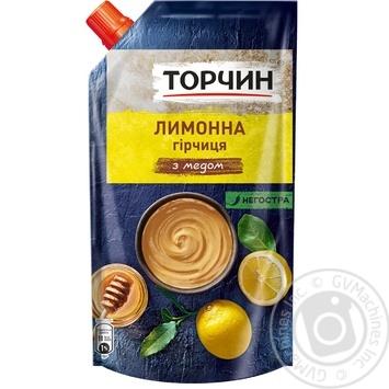 Горчица Торчин Лимонная с медом 115г - купить, цены на Ашан - фото 1