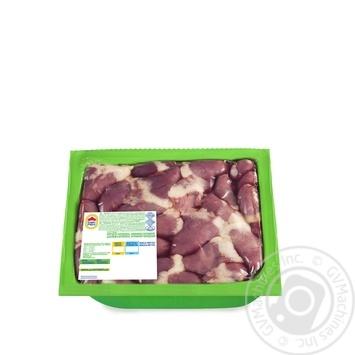 Серце Наша Ряба курчати-бройлера охолоджене вакуумна упаковка 650г - купити, ціни на Novus - фото 1
