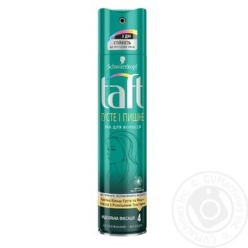 Лак Schwarzkopf Taft Густые и Пышные для тонких и ослабленных волос сверхсильная фиксация 250мл