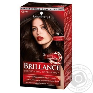 Brillance 883 Hair dye Elegant dark chestnut 142,5ml - buy, prices for Novus - image 1