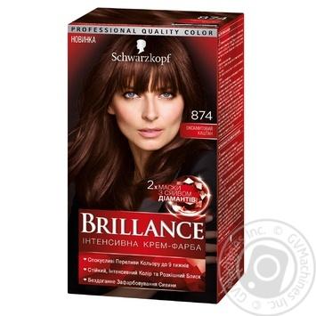 Brillance 874 Velvet Chestnut Hair Dye 142,5ml - buy, prices for Novus - image 1