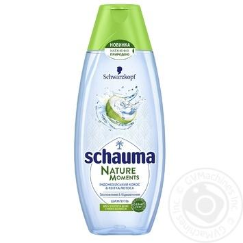 Шампунь Schauma Nature Moments Кокосова вода та квітка лотоса 400мл - купити, ціни на Ашан - фото 1