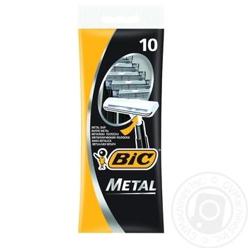 Скидка на Бритва мужская BIC Metal 10шт