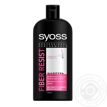 Шампунь Syoss Anti-Hair Fall Fiber Resist 95 для тонких и ломких волос без объема 500мл
