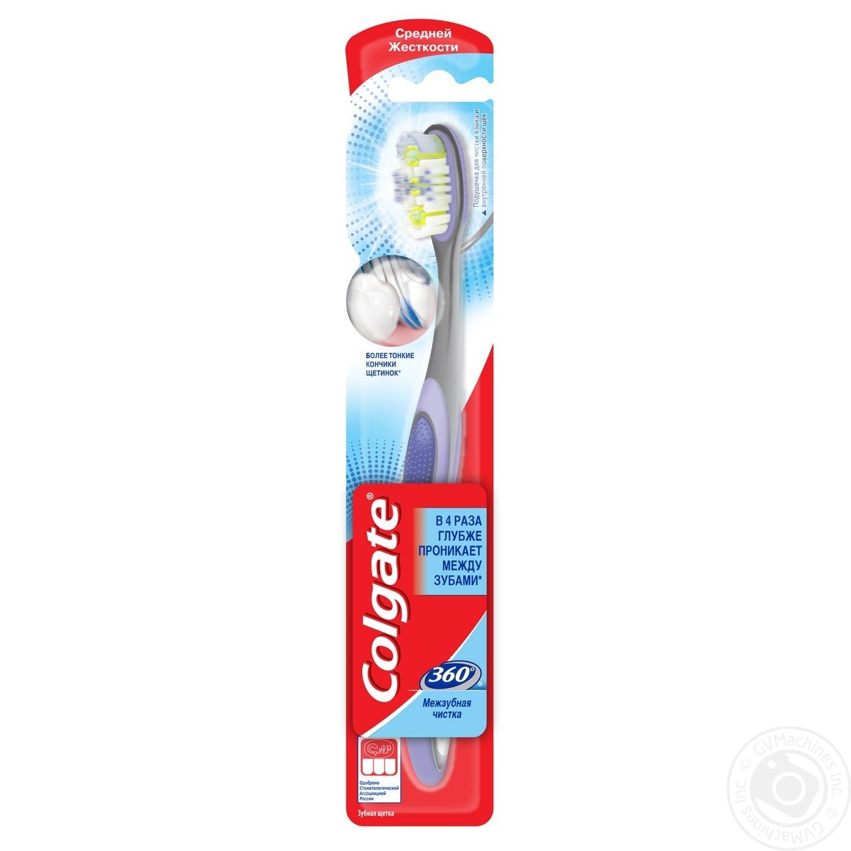 Зубна щітка Colgate 360 Міжзубна чистка Більш тонкі кінчики щітинок Для  чистки язика та внутрішньої поверхні 447e9fafa29cd