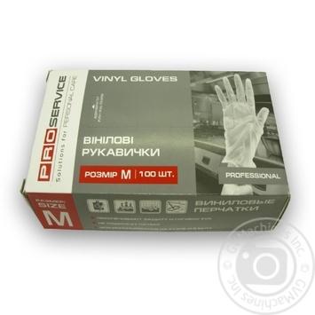 Pro Service Vinyl gloves M 100pcs