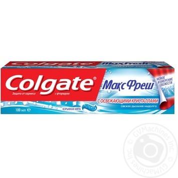 Зубная паста Colgate Макс Фреш Взрывная мята 100мл - купить, цены на Фуршет - фото 2