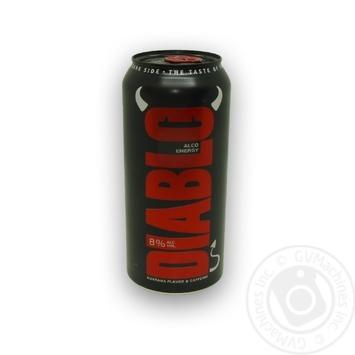 Beer Diablo low alcohol 8% 500ml can Ukraine