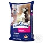 Корм д/щенков Club 4 Paws высок содерж курицы сух 14кг