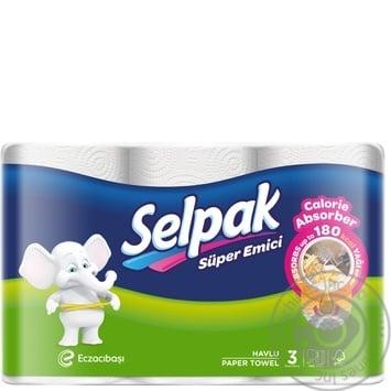 Полотенца бумажные Selpak Calorie трехслойные 3шт - купить, цены на Novus - фото 1
