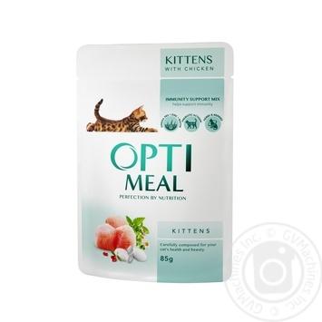 Скидка на Корм Optimeal для котят с курицей 85г