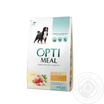 Корм сухой Optimeal для собак крупных пород со вкусом курицы 4кг