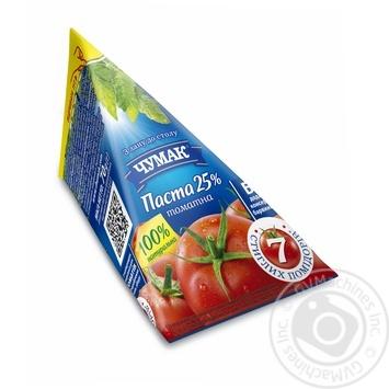 Паста томатна Чумак 25% 70г - купити, ціни на МегаМаркет - фото 1