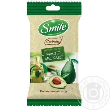 Салфетки влажные Smile Herbalis с маслами в ассортименте 10шт - купить, цены на Varus - фото 1