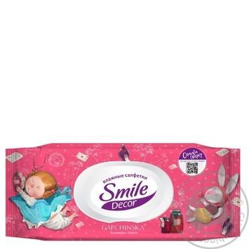 Салфетки влажные Smile Decor с клапаном в ассортименте 60шт - купить, цены на МегаМаркет - фото 4