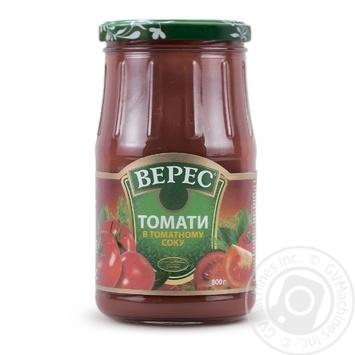 Томаты Верес в томатном соке консервированные 800г