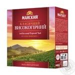 Чай чорний Майский класичний високогірний в пакетиках 100шт*2г