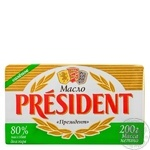 President European-style butter salted 80% 200g - buy, prices for MegaMarket - image 1
