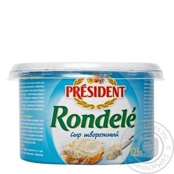 Сир м'який кисломолочний Президент Ронделе 70% 125г - купити, ціни на Novus - фото 1