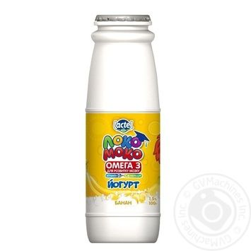 Lactel Loko Moko Banana Flavored Yogurt Enriched with Calcium, Omega-3 and Vitamin D3 1,5% 100g - buy, prices for Auchan - photo 4