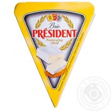 Сыр Президент Бри мягкий 60% 125г - купить, цены на МегаМаркет - фото 1