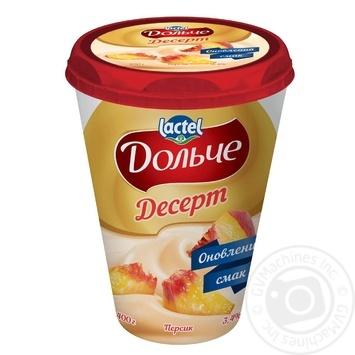 Dolce Curd Peach Dessert 400g - buy, prices for MegaMarket - image 1