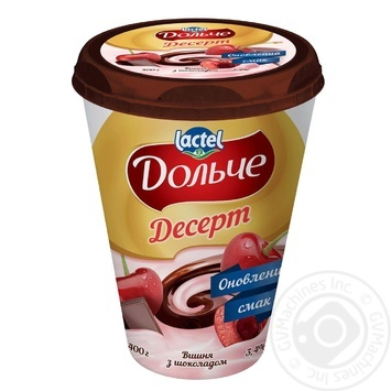 Dolce with chocolate and cherry dessert 3.4% 400g - buy, prices for MegaMarket - image 1
