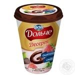 Десерт сирковий Дольче полуниця-ківі з шоколадом 3,4% 400г