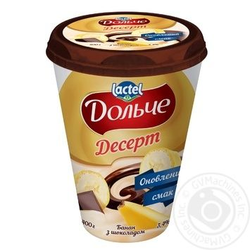 Dolce Banana-Chocolate Curd Dessert 3,4% 400g - buy, prices for Metro - image 1